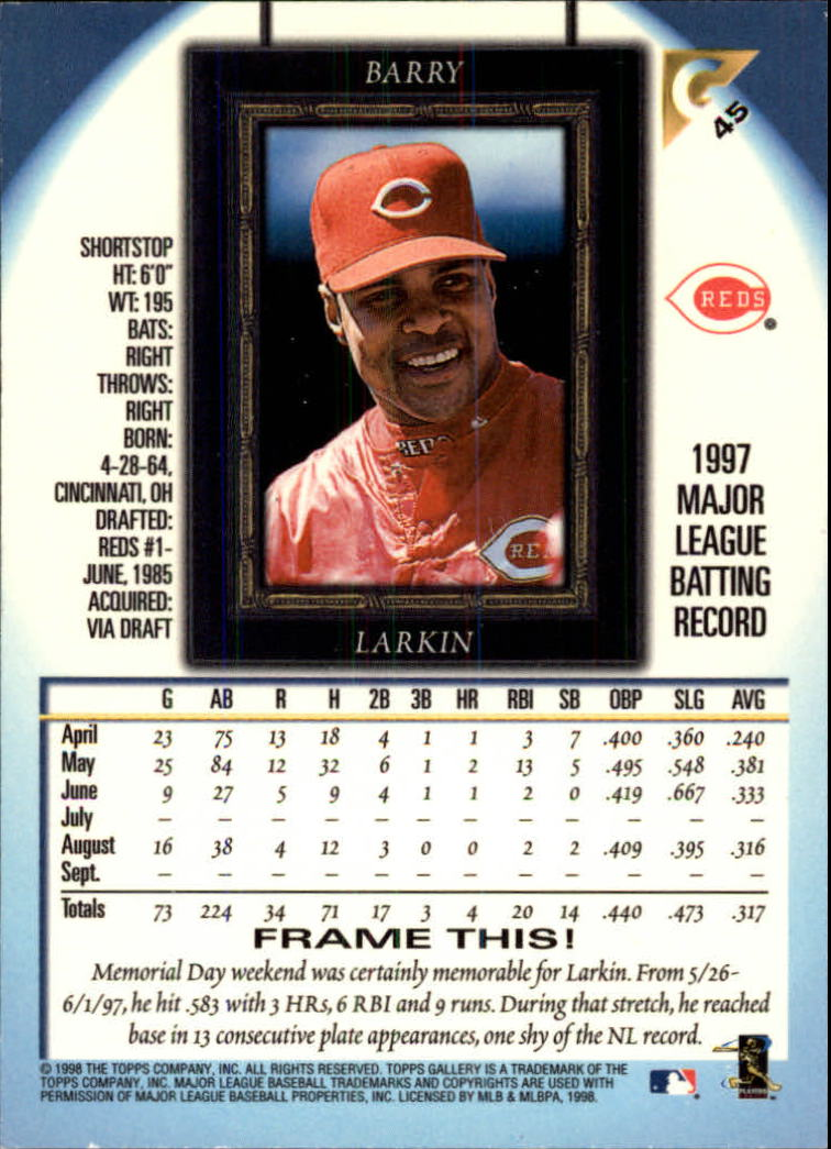 1998-Topps-Gallery-Baseball-Cards-Pick-From-List thumbnail 57