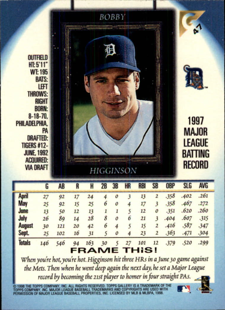 1998-Topps-Gallery-Baseball-Cards-Pick-From-List thumbnail 61