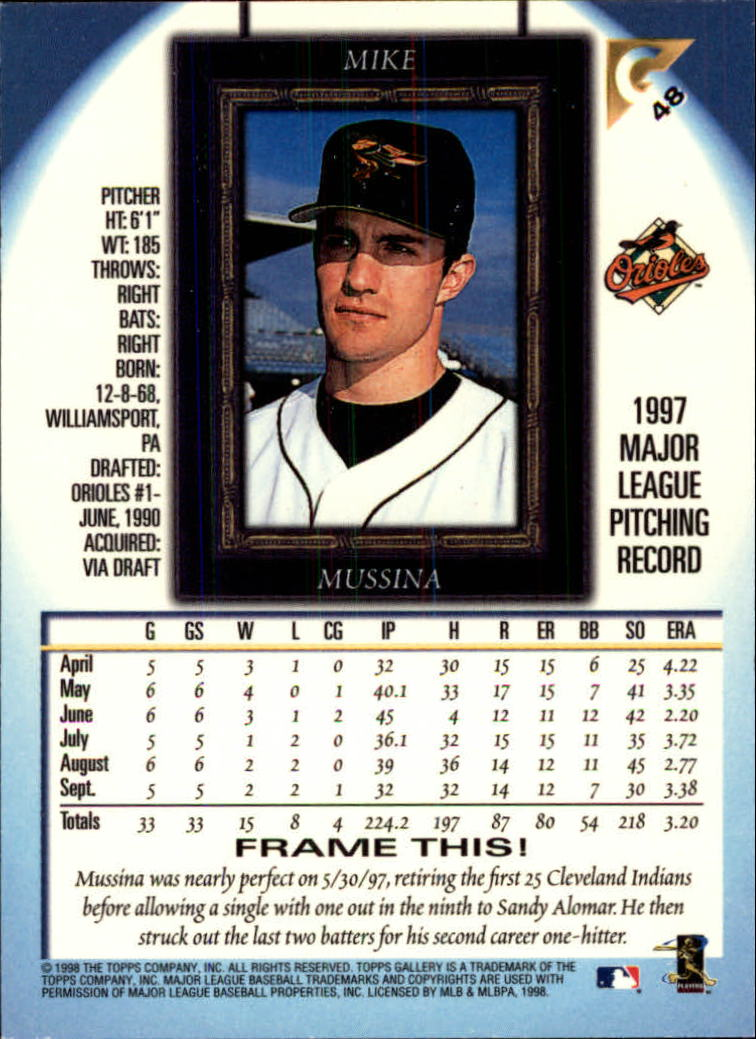 1998-Topps-Gallery-Baseball-Cards-Pick-From-List thumbnail 63