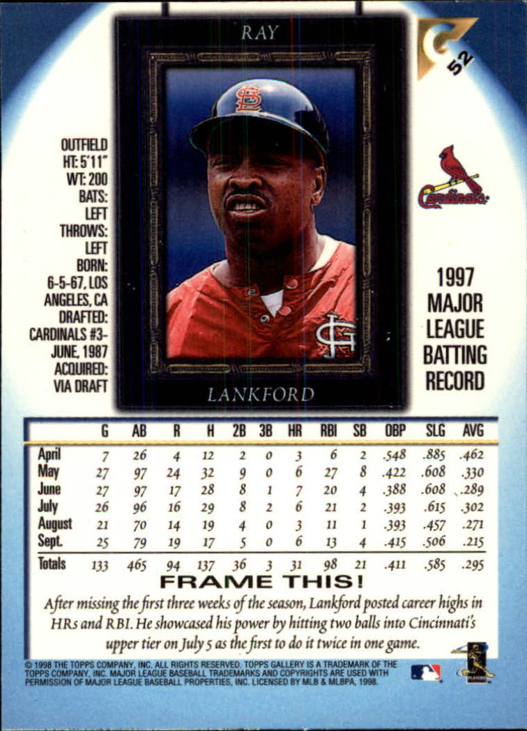 1998-Topps-Gallery-Baseball-Cards-Pick-From-List thumbnail 65