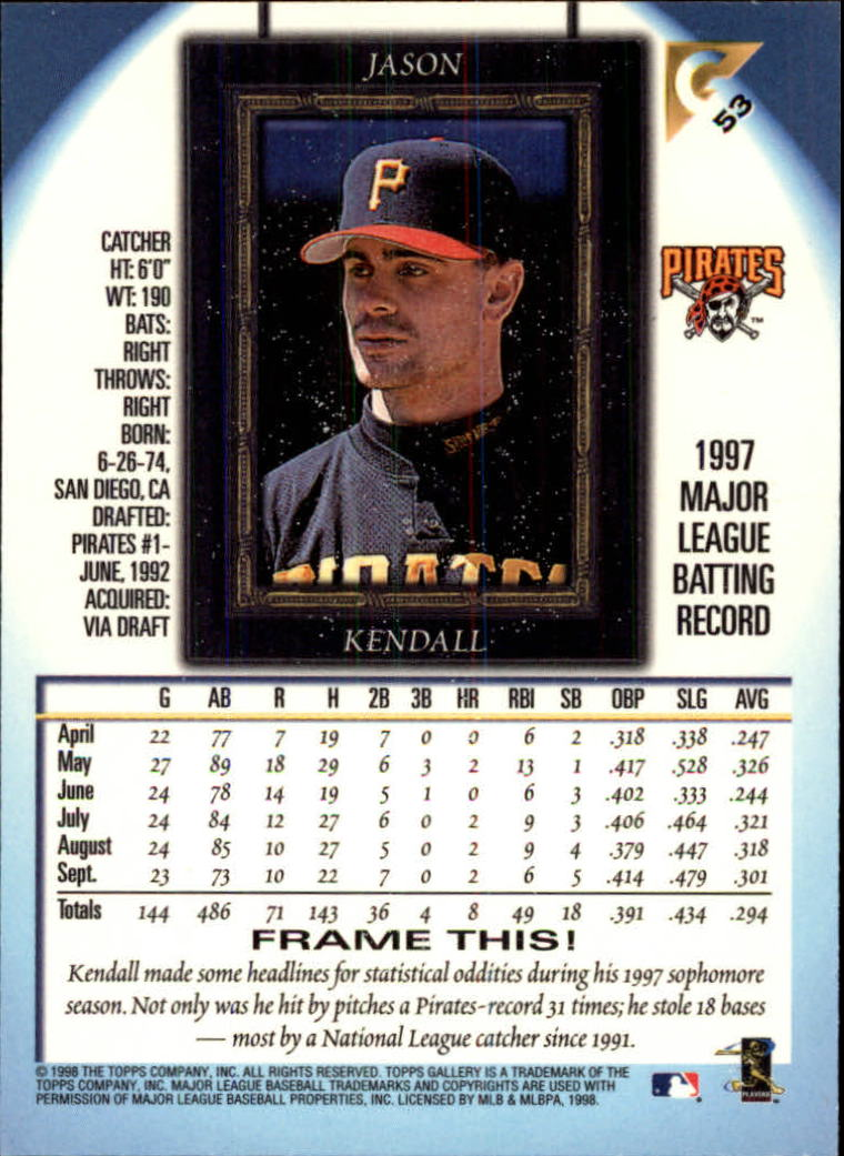 1998-Topps-Gallery-Baseball-Cards-Pick-From-List thumbnail 67