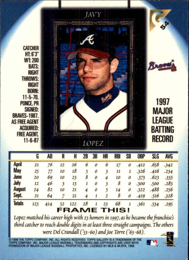 1998-Topps-Gallery-Baseball-Cards-Pick-From-List thumbnail 69