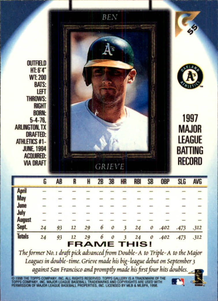 1998-Topps-Gallery-Baseball-Cards-Pick-From-List thumbnail 71
