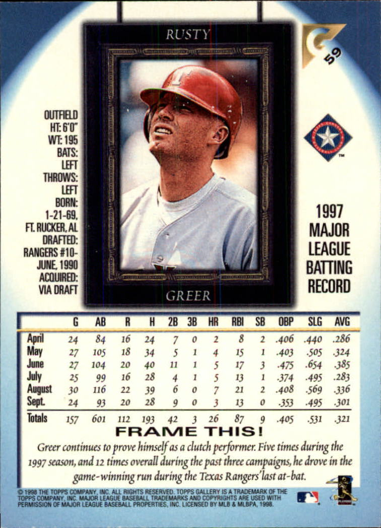 1998-Topps-Gallery-Baseball-Cards-Pick-From-List thumbnail 75