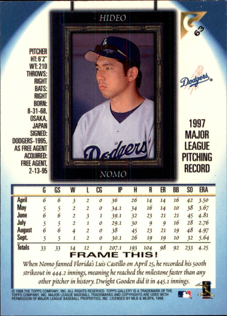1998-Topps-Gallery-Baseball-Cards-Pick-From-List thumbnail 79