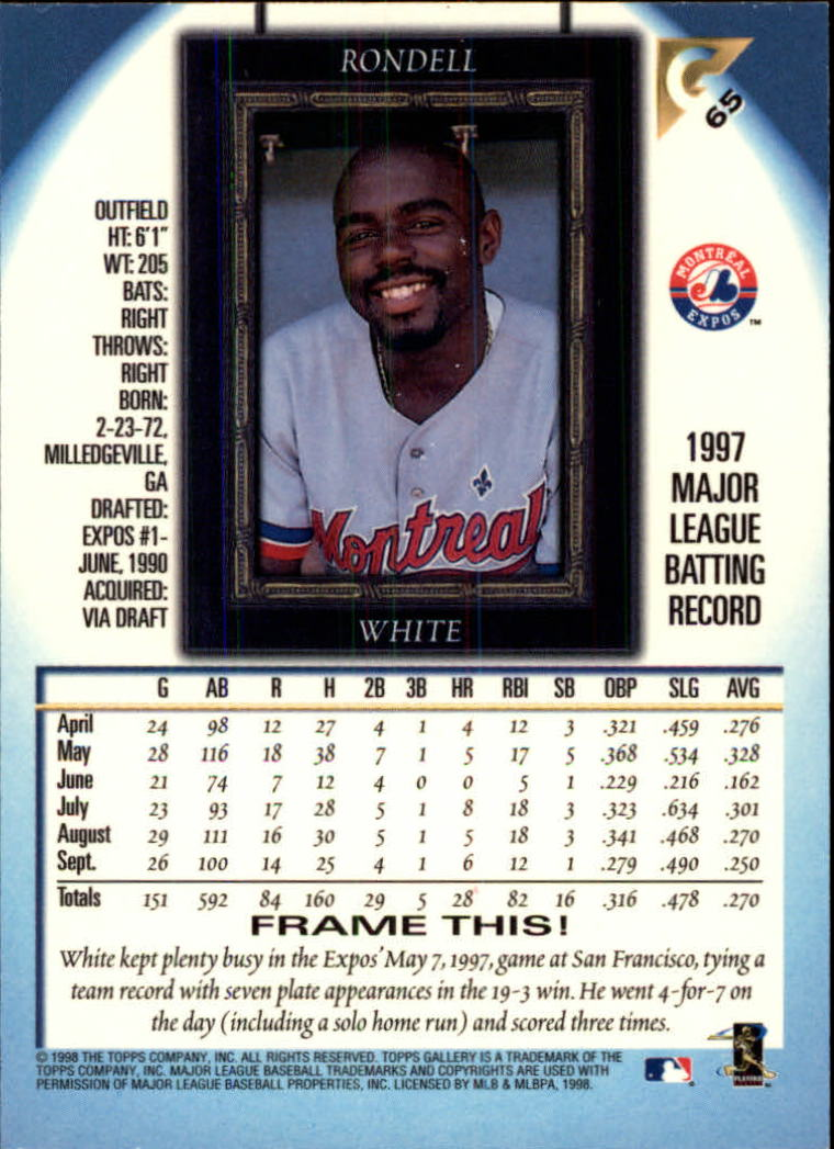 1998-Topps-Gallery-Baseball-Cards-Pick-From-List thumbnail 81