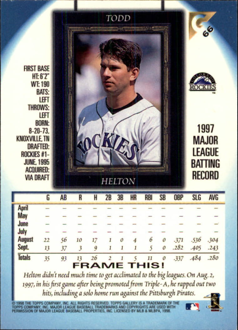 1998-Topps-Gallery-Baseball-Cards-Pick-From-List thumbnail 83