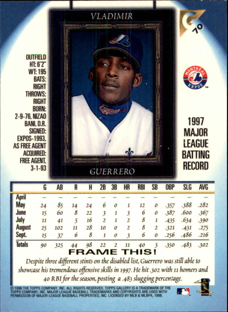 1998-Topps-Gallery-Baseball-Cards-Pick-From-List thumbnail 87