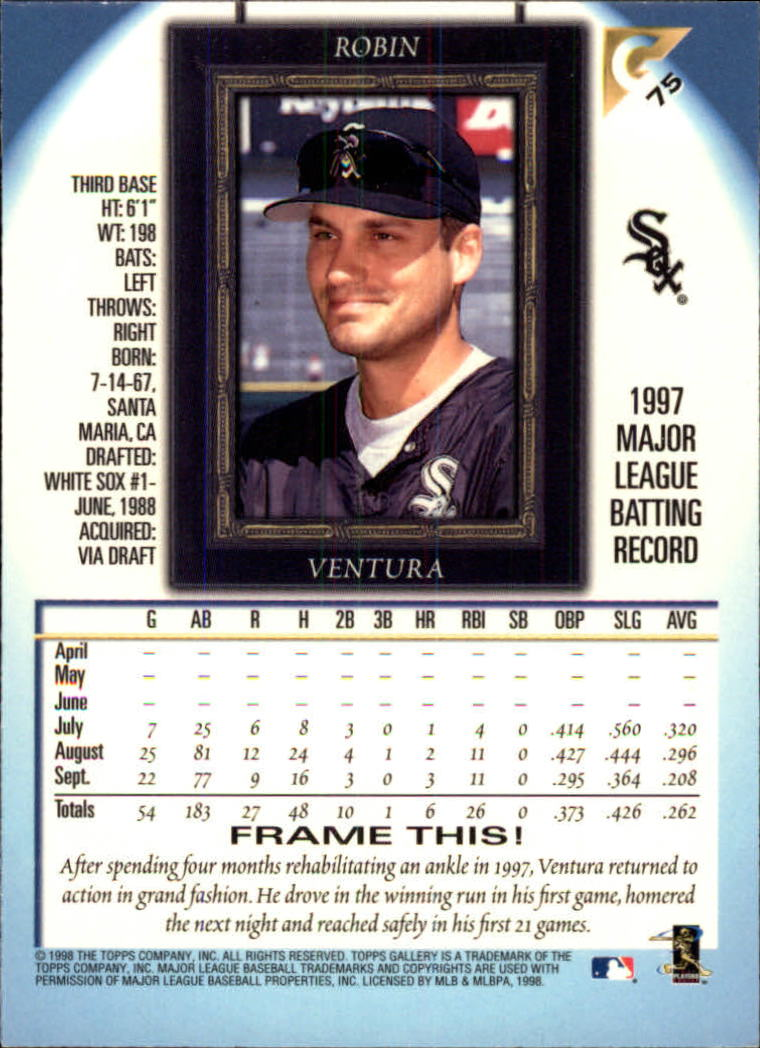 1998-Topps-Gallery-Baseball-Cards-Pick-From-List thumbnail 91