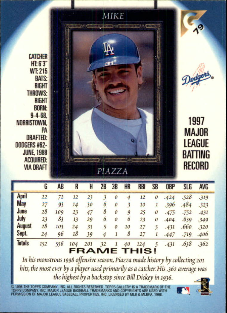 1998-Topps-Gallery-Baseball-Cards-Pick-From-List thumbnail 93