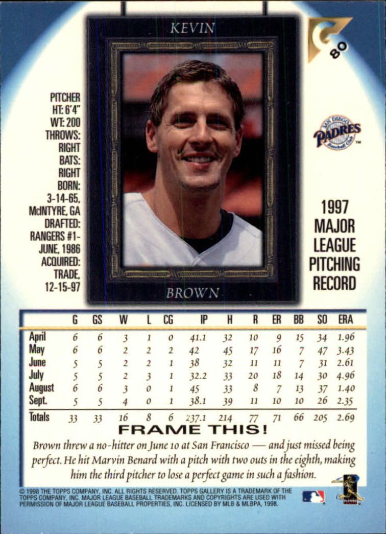 1998-Topps-Gallery-Baseball-Cards-Pick-From-List thumbnail 95
