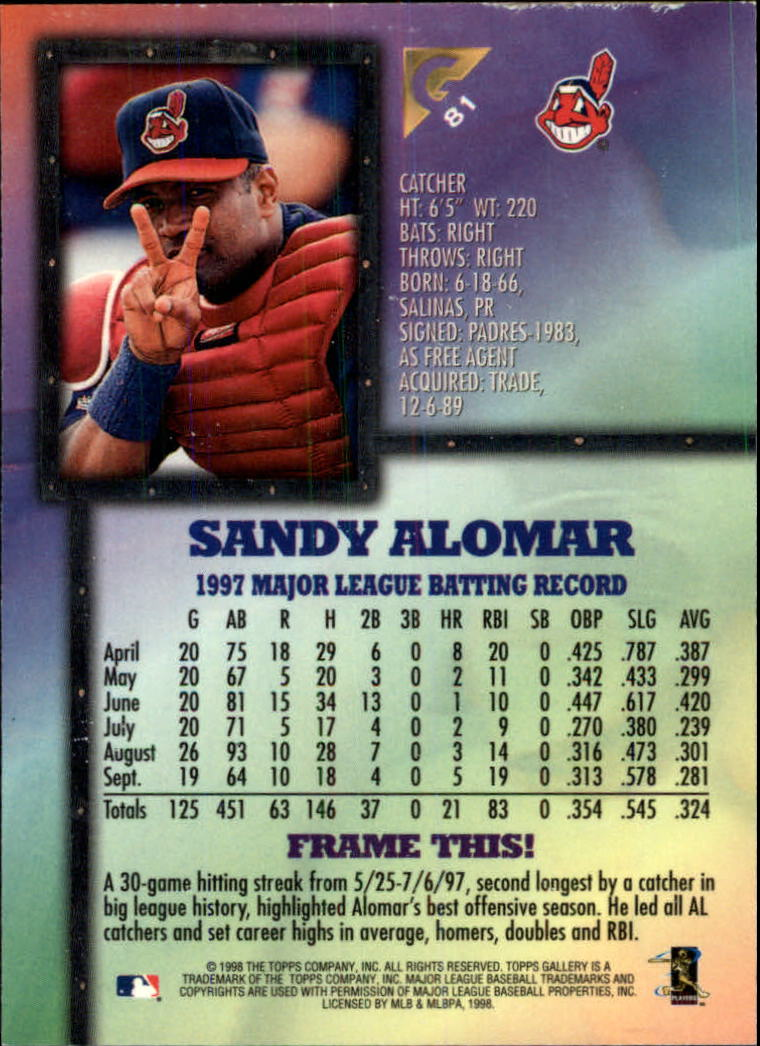 1998-Topps-Gallery-Baseball-Cards-Pick-From-List thumbnail 97