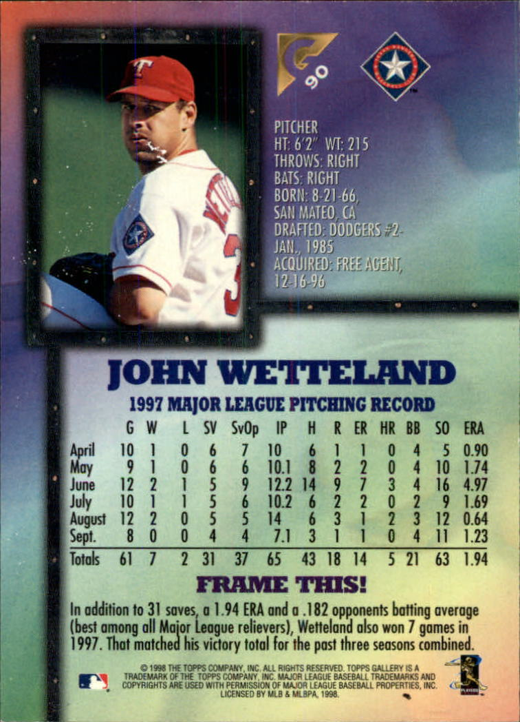 1998-Topps-Gallery-Baseball-Cards-Pick-From-List thumbnail 109