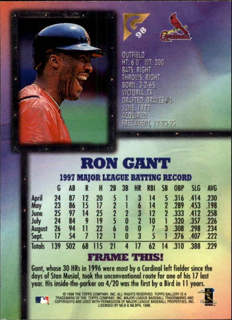 1998-Topps-Gallery-Baseball-Cards-Pick-From-List thumbnail 117