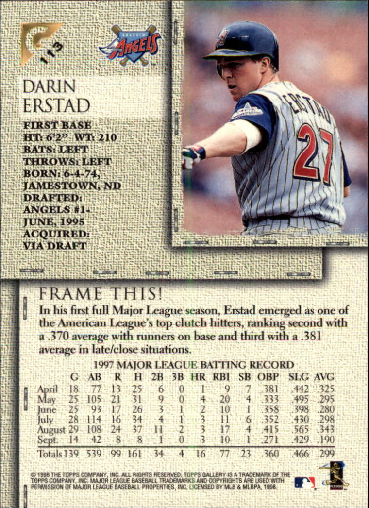 1998-Topps-Gallery-Baseball-Cards-Pick-From-List thumbnail 139