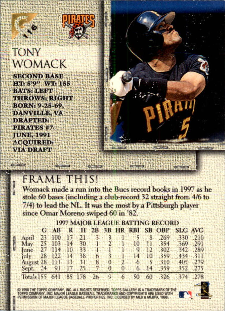 1998-Topps-Gallery-Baseball-Cards-Pick-From-List thumbnail 143