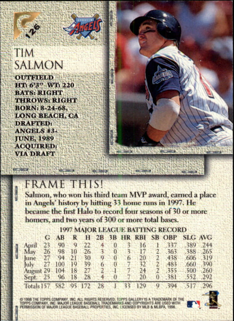 1998-Topps-Gallery-Baseball-Cards-Pick-From-List thumbnail 157