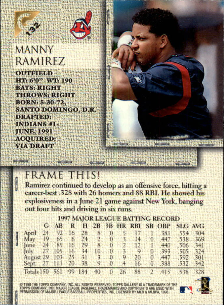 1998-Topps-Gallery-Baseball-Cards-Pick-From-List thumbnail 165