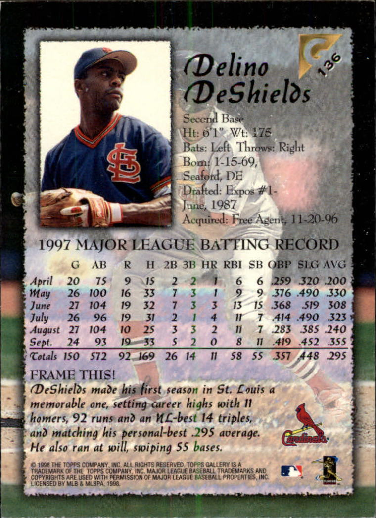 1998-Topps-Gallery-Baseball-Cards-Pick-From-List thumbnail 171