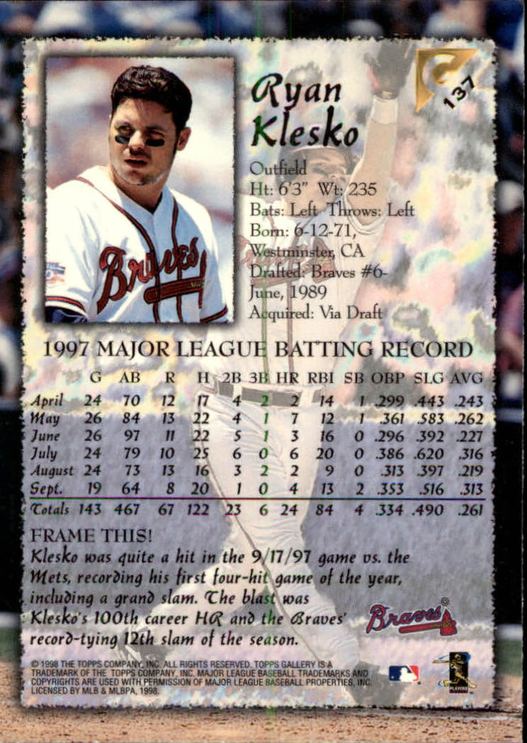 1998-Topps-Gallery-Baseball-Cards-Pick-From-List thumbnail 173