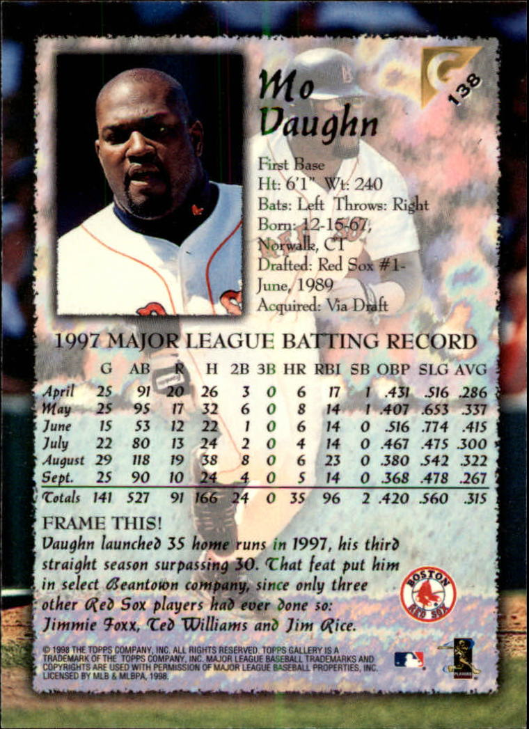 1998-Topps-Gallery-Baseball-Cards-Pick-From-List thumbnail 175