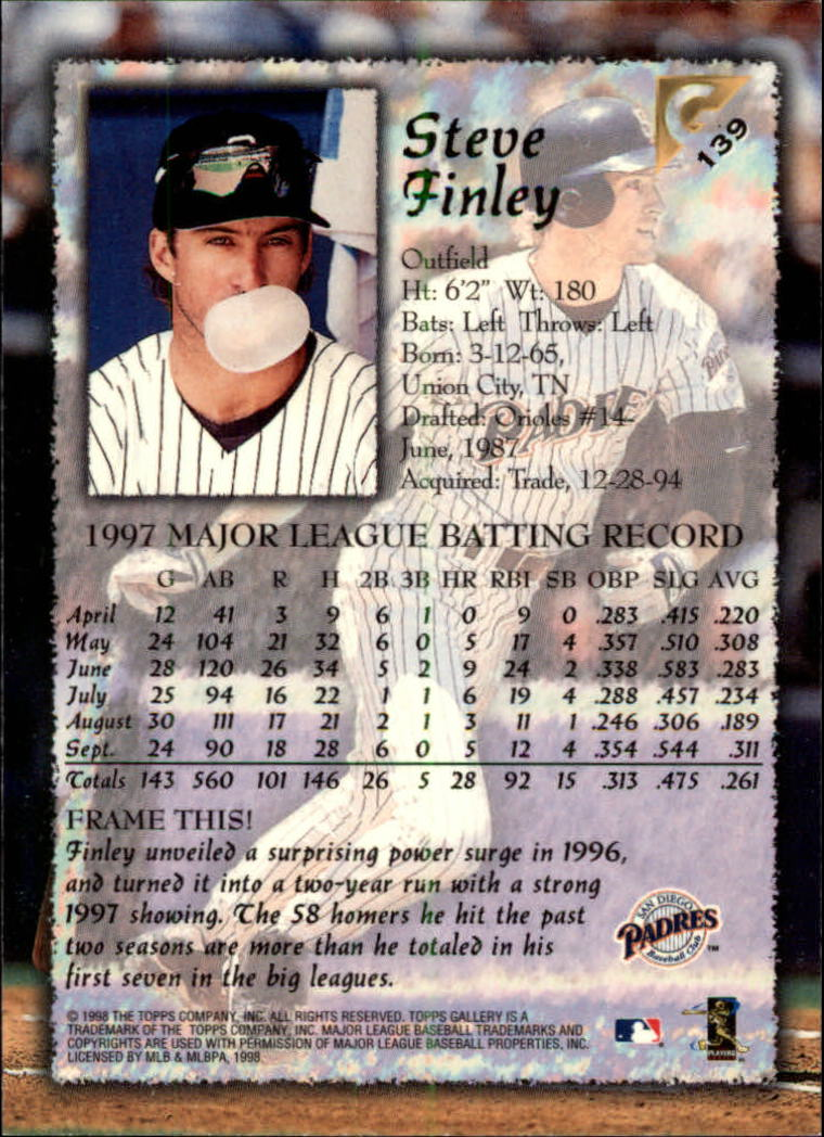 1998-Topps-Gallery-Baseball-Cards-Pick-From-List thumbnail 177