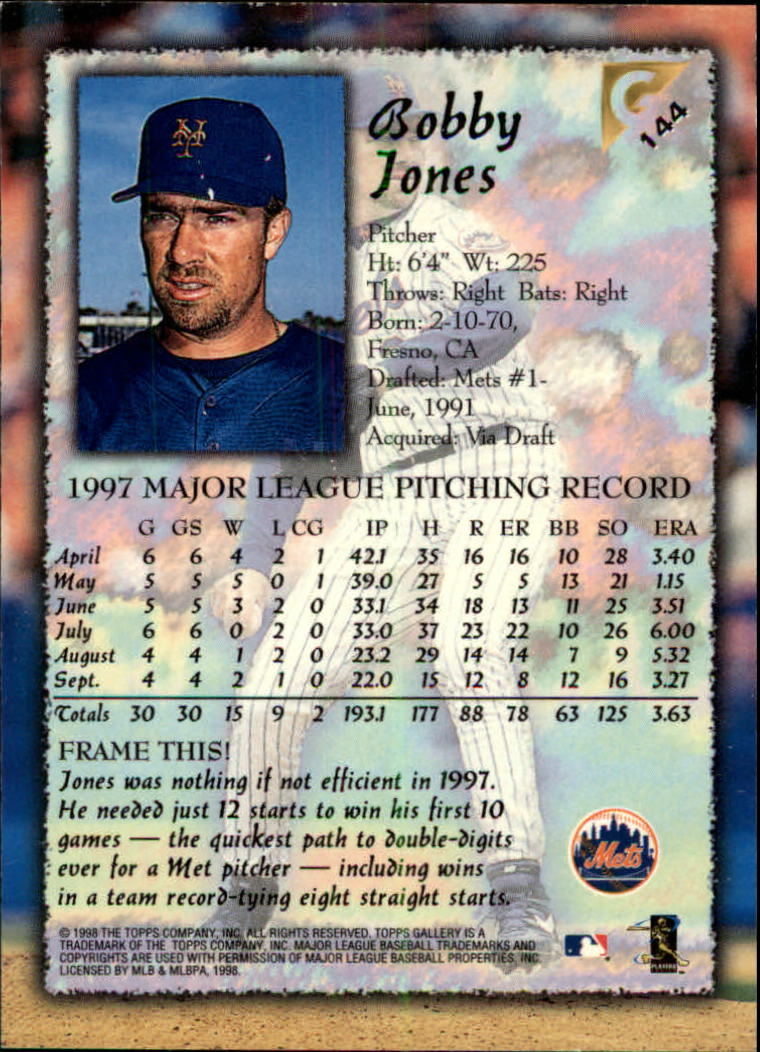 1998-Topps-Gallery-Baseball-Cards-Pick-From-List thumbnail 183