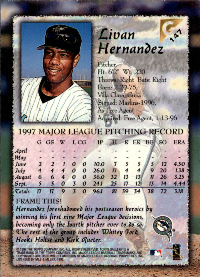 1998-Topps-Gallery-Baseball-Cards-Pick-From-List thumbnail 187