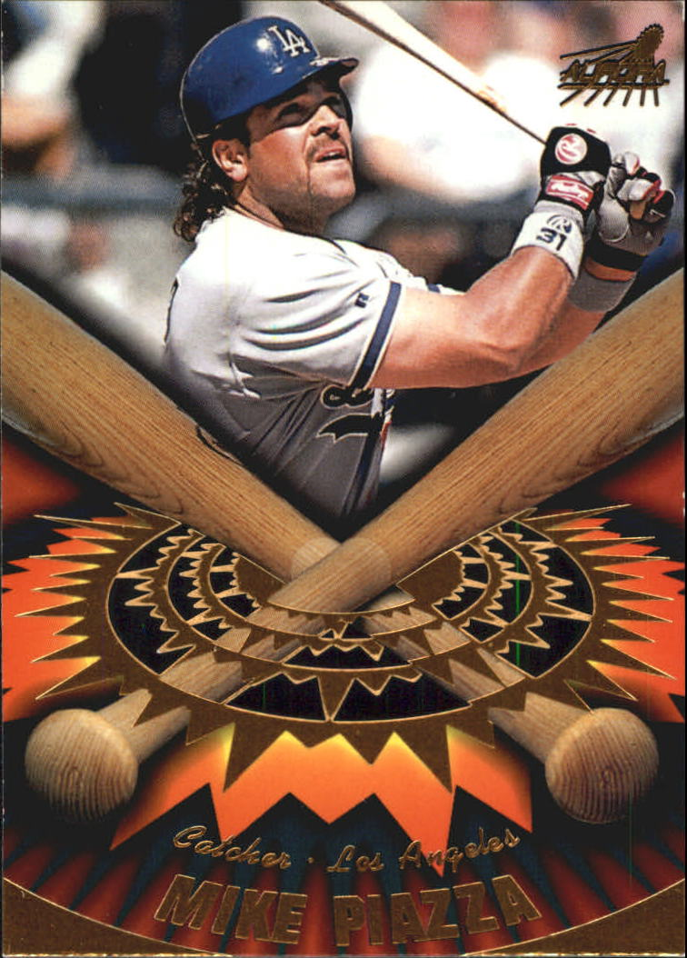 1998 Aurora On Deck Laser Cuts #10 Mike Piazza