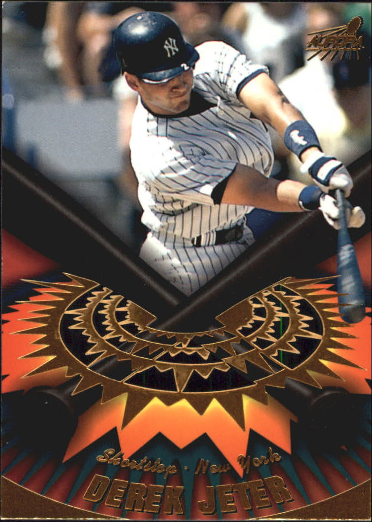 1998 Aurora On Deck Laser Cuts #11 Derek Jeter