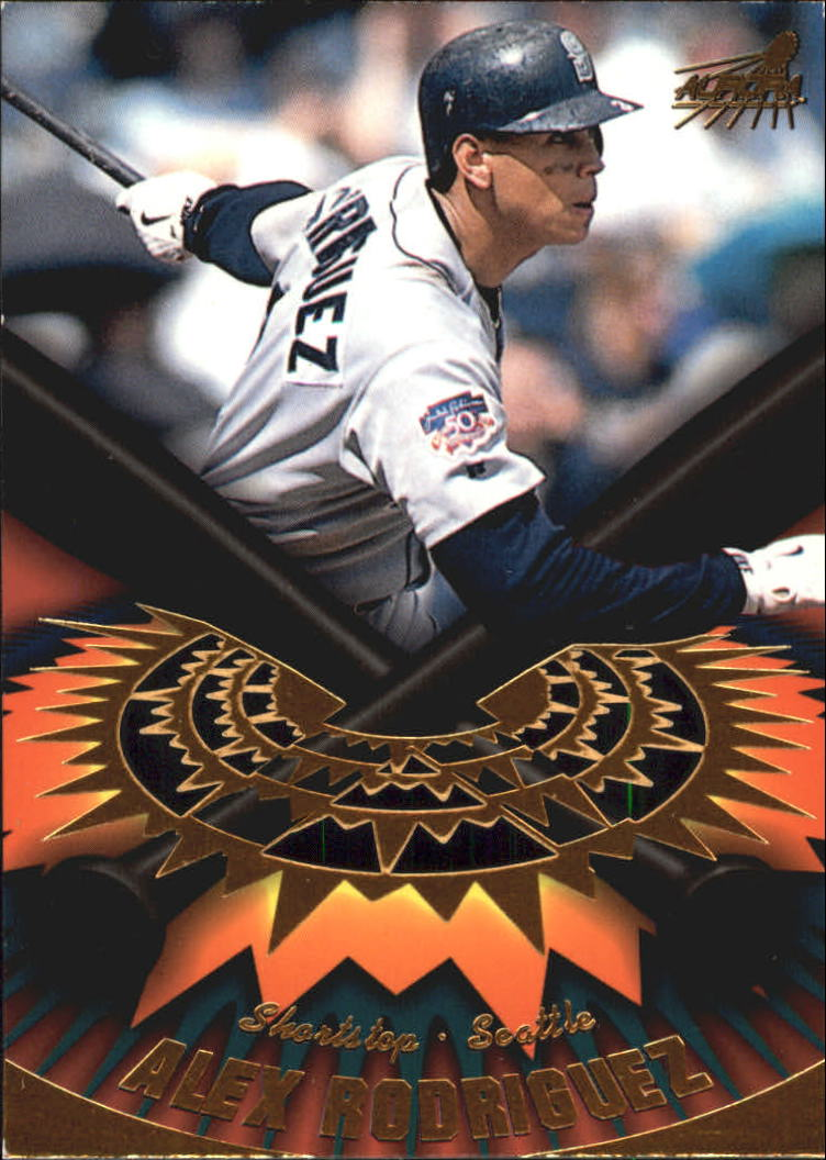 1998 Aurora On Deck Laser Cuts #17 Alex Rodriguez