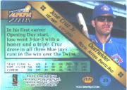1998 Aurora Pennant Fever Copper #23 Jose Cruz Jr.