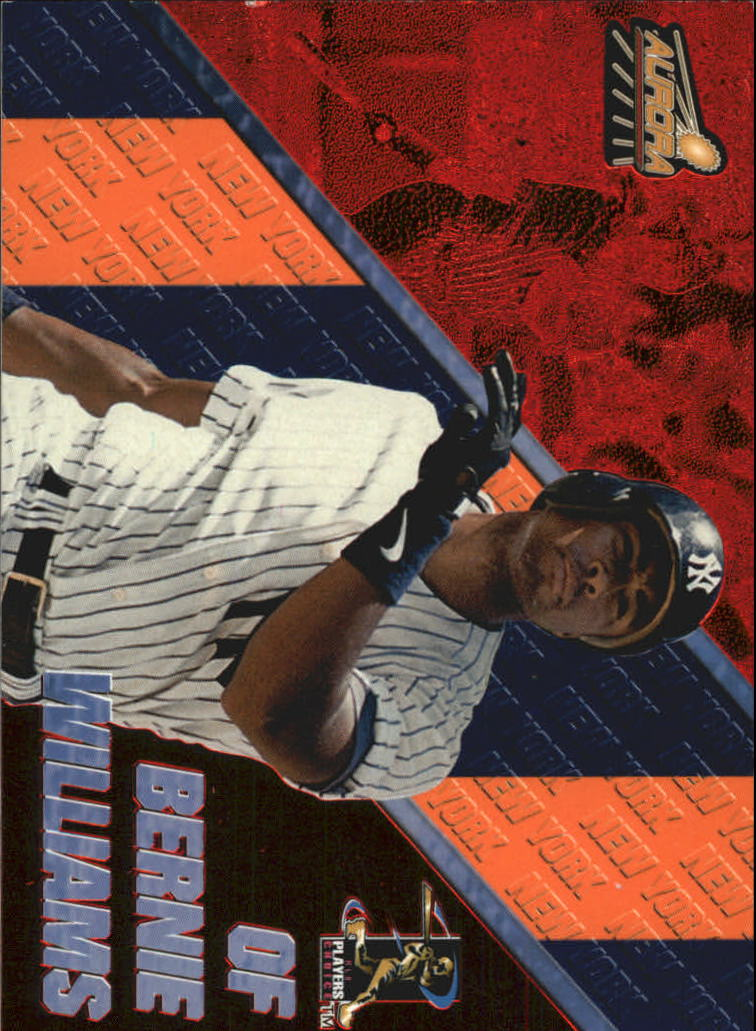 1998 Aurora Pennant Fever Red #49 Bernie Williams