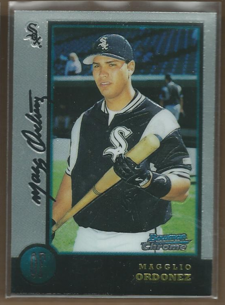 1998 Bowman Chrome #185 Magglio Ordonez UER RC