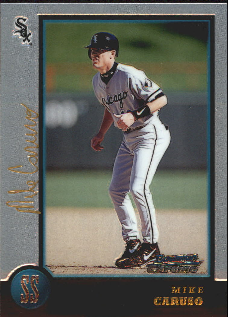 1998 Bowman Chrome Golden Anniversary #299 Mike Caruso