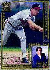 1998 Crown Royale Firestone on Baseball Autographed #3 Greg Maddux