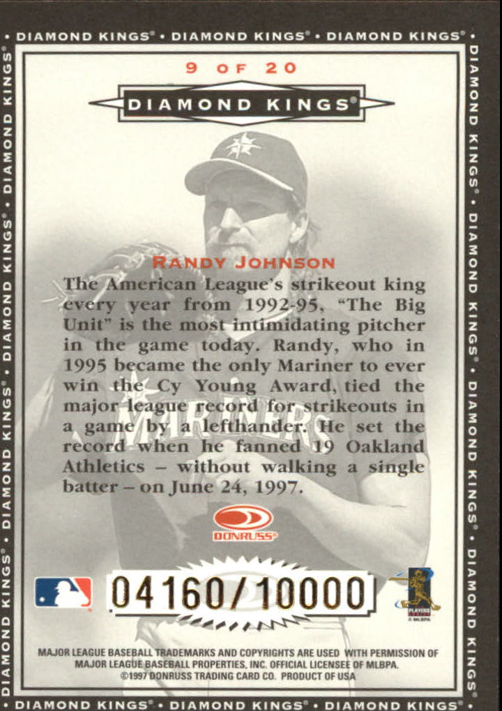 1998 Donruss Diamond Kings #9 Randy Johnson