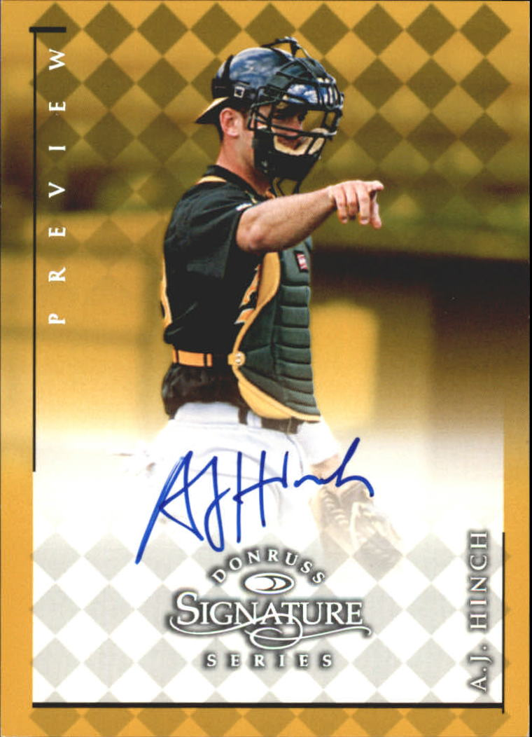 1998 Donruss Signature Series Previews #13 A.J. Hinch/400