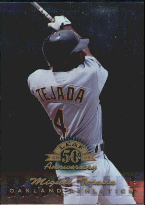 1998 Donruss Collections Leaf #385 Miguel Tejada GLR