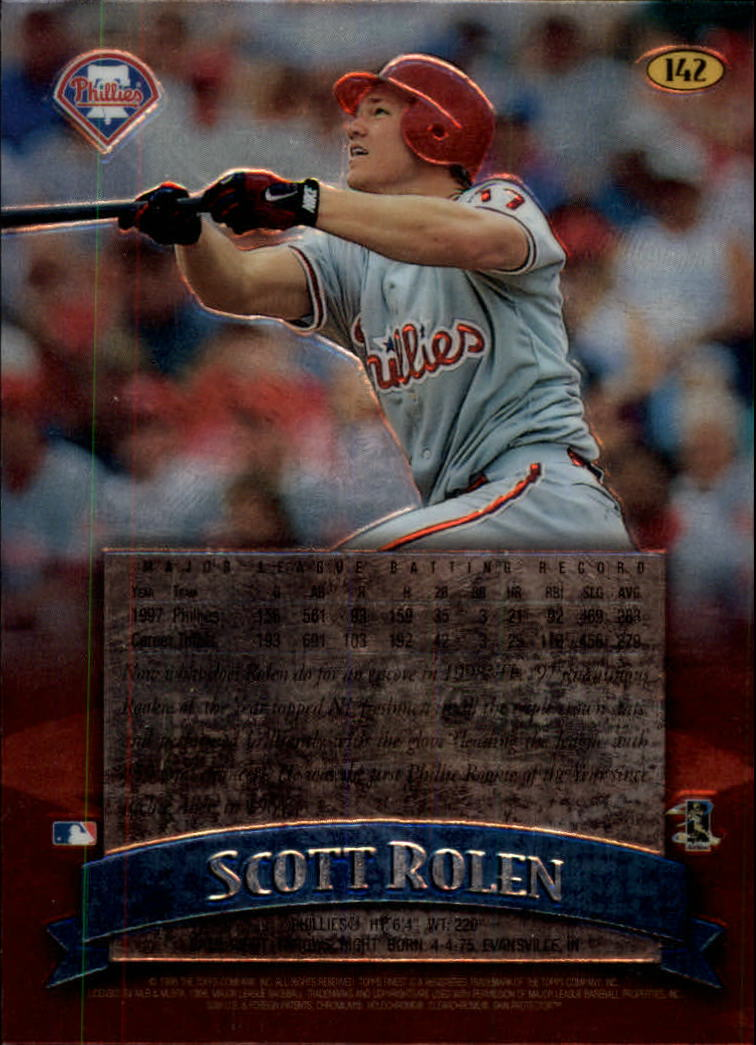 1998 Finest No-Protectors #142 Scott Rolen back image