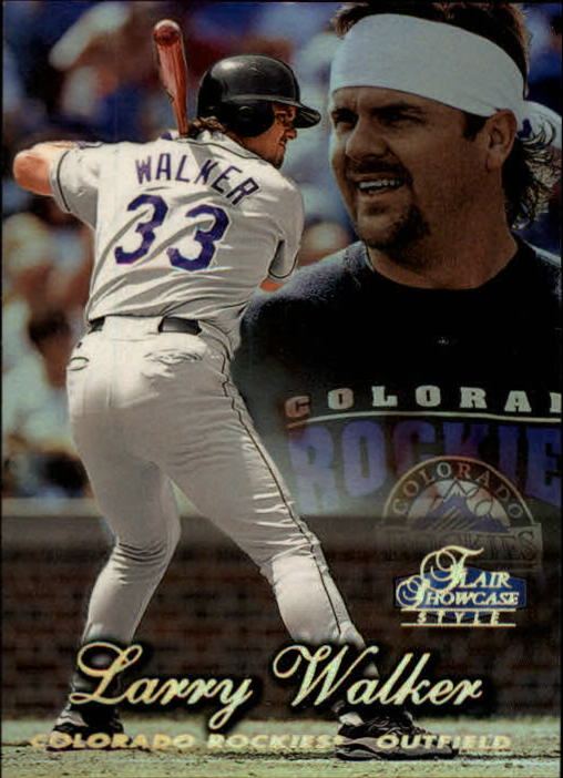 1998 Flair Showcase Row 2 #33 Larry Walker