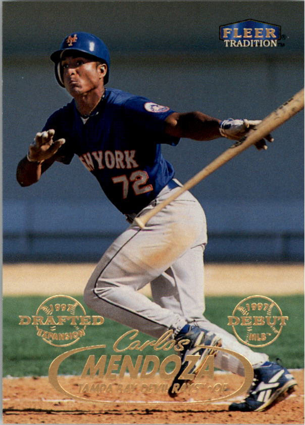 1998 Fleer Tradition #149 Carlos Mendoza RC