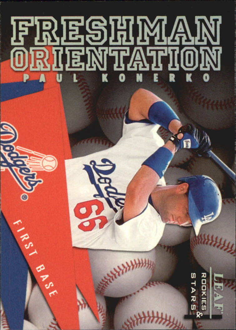1998 Leaf Rookies and Stars Freshman Orientation #4 Paul Konerko