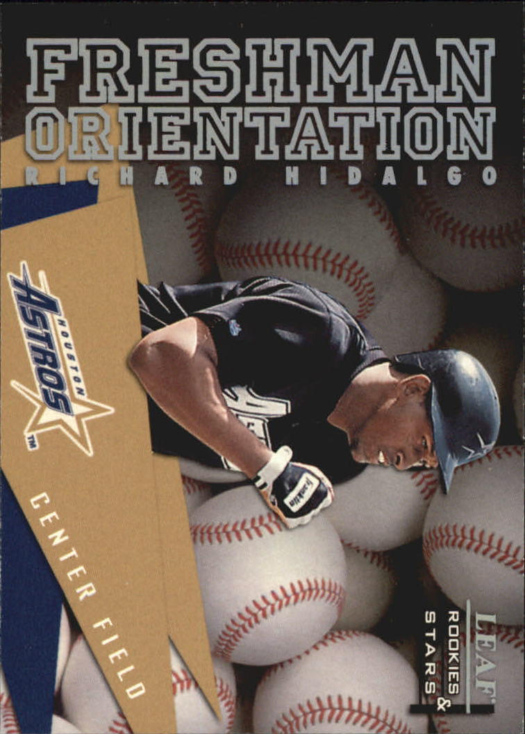 1998 Leaf Rookies and Stars Freshman Orientation #9 Richard Hidalgo