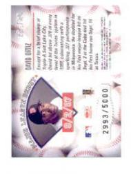 1998 Leaf Rookies and Stars Freshman Orientation #12 David Ortiz back image