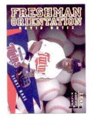 1998 Leaf Rookies and Stars Freshman Orientation #12 David Ortiz front image