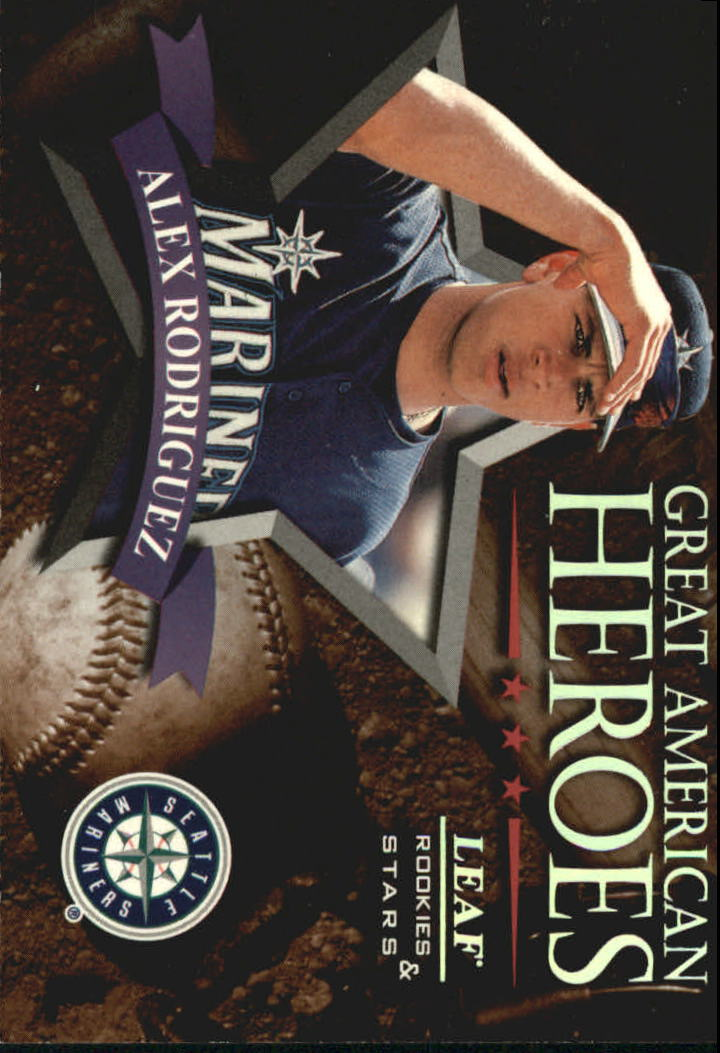 1998 Leaf Rookies and Stars Great American Heroes #4 Alex Rodriguez