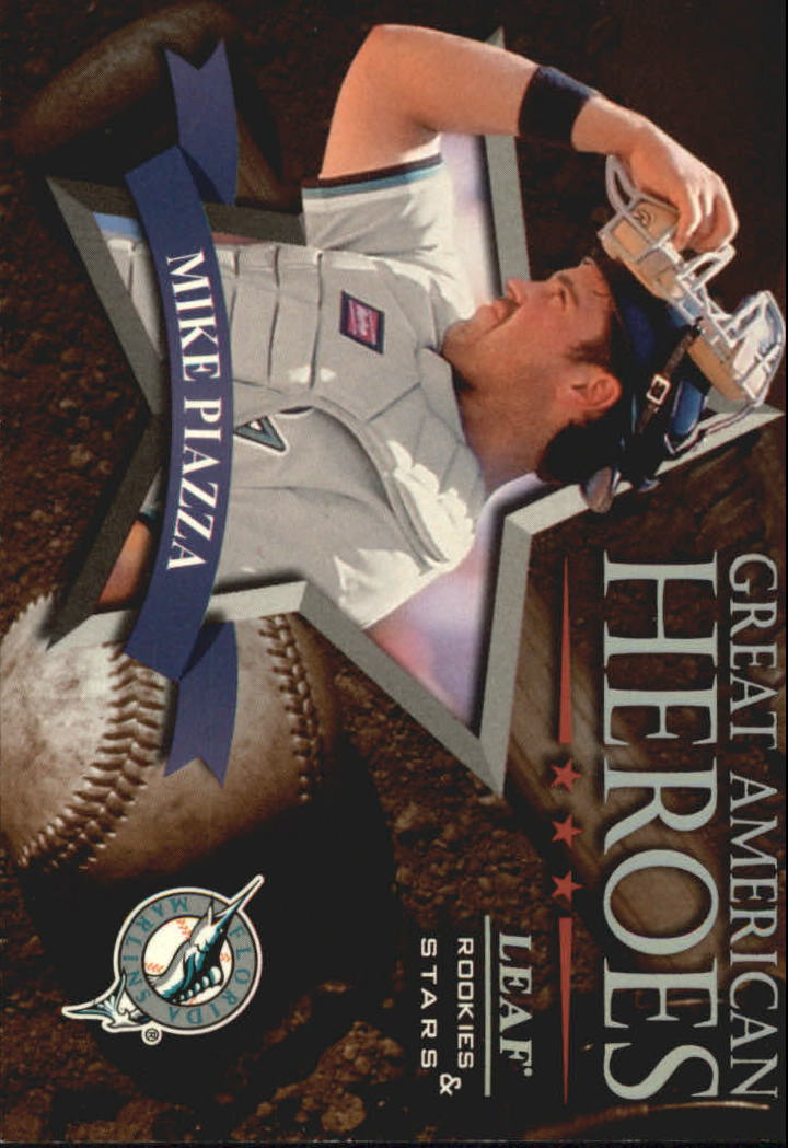 1998 Leaf Rookies and Stars Great American Heroes #6 Mike Piazza