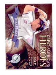1998 Leaf Rookies and Stars Great American Heroes #6B Mike Piazza Marlins