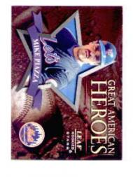 1998 Leaf Rookies and Stars Great American Heroes #6C Mike Piazza Mets